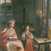 anonimo maestro di serrone la bottega di san giuseppe dopo il 1620