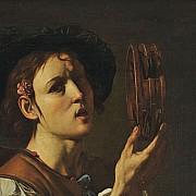 francesco boneri giovane musicista in una bottega di strumenti musicali particolare 1620 1625