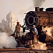 steve mc curry locomotiva a vapore taj mahal pradesh india 1983