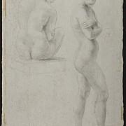 antonio canova due figure femminili nude di schiena l altra andante di profilo con braccia incrociate al petto