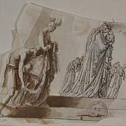 antonio canova figure di sinistra del monumento a maria cristina d austria