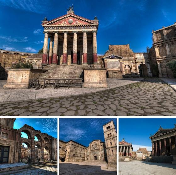 Immagini di Cinecittà, a Roma