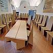 museo carta fabriano mobili carta riciclata sedie tavolo lavagna