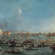 francesco guardi corteo di gondole nel bacino di san marco 1780 1793