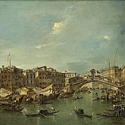 francesco guardi il canal grande con il ponte di rialto