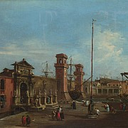 francesco guardi la porta dell arsenale 1755 60