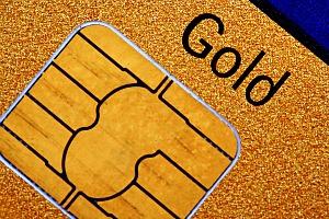 Dettaglio di una carta di credito