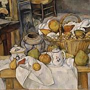 paul cezanne il tavolo di cucina natura morta con cesta 1888 1890