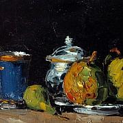 paul cezanne zuccheriera pere e tazza blu 1865 1866