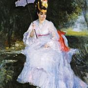 pierre auguste renoir femme a l ombrelle assise dans le jardin 1872