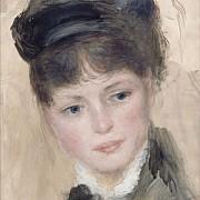 pierre auguste renoir jeune femme au chapeau noir 1880 1890 ca