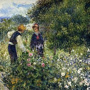 pierre auguste renoir picking flowers 1875