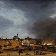 egbert van der poel veduta di delft con l esplosione del 1654 1654