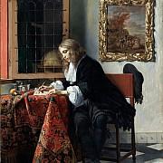gabriel metsu uomo che scrive una lettera 1664 1666 ca