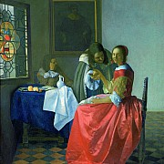 johannes vermeer giovane donna con bicchiere di vino 1659 1660 ca