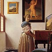 johannes vermeer giovane donna in piedi al virginale 1670 1673 ca