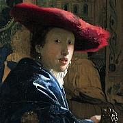 johannes vermeer ragazza con il cappello rosso 1665 166 ca