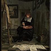 michiel van musscher artista nel suo atelier 1665 ca