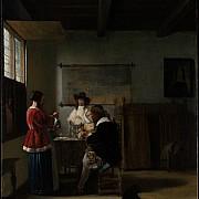 pieter de hooch la visita 1657 ca