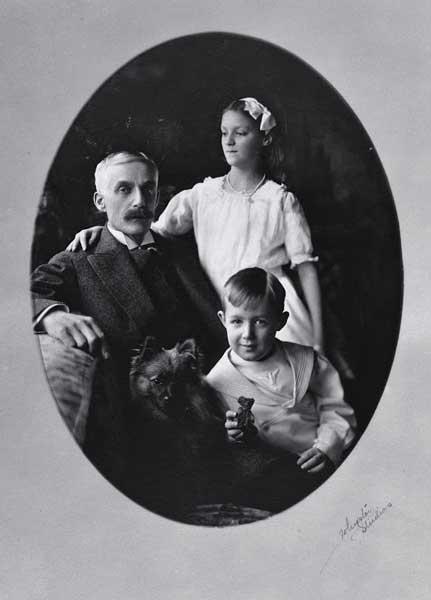 Andrew Mellon con i figli Ailsa e Paul 1913