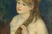 Auguste renoir giovane donna che si pettina 1876