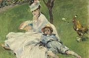 Auguste renoir madame monet e suo figlio 1874
