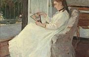 Berthe morisot la sorella dell artista alla finestra 1869