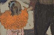 Edouard vuillard bambina con la sciarpa rossa 1891