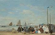 Eugene boudin sulla spiaggia di trouville 1863