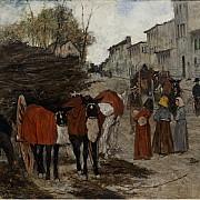 giovanni fattori l arrivo dei barrocci 1881