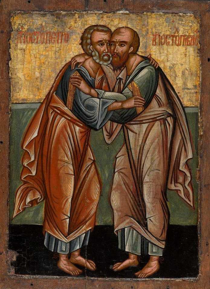 San Paolo e San Pietro. L'amore fraterno, Prima metà del XVI secolo