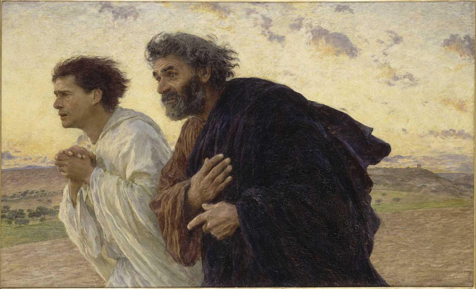 Pietro e Giovanni corrono al sepolcro allʹalba, 1898