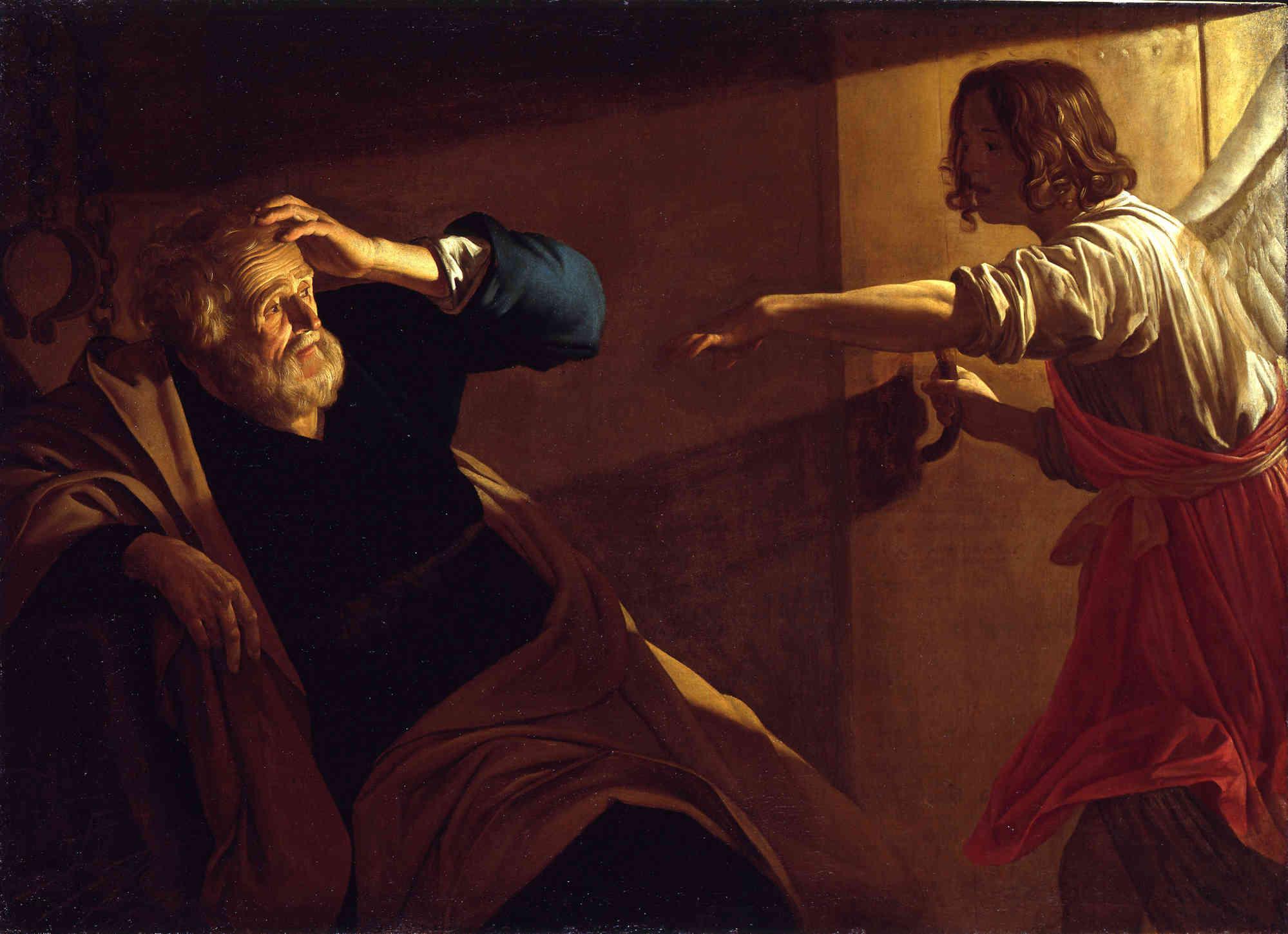 L'angelo libera Pietro dal carcere, 1630 circa