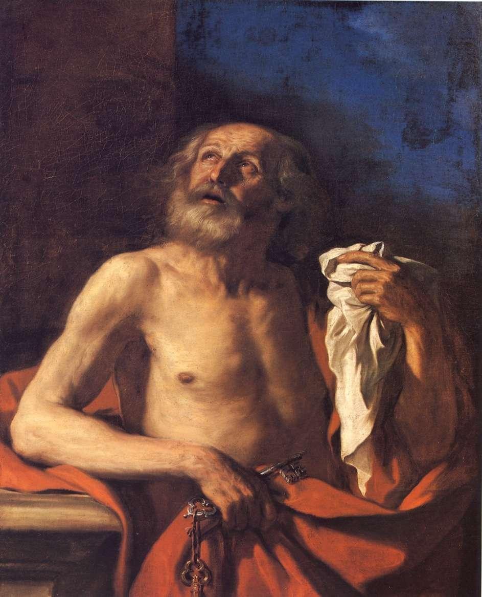 Giovan Francesco Barbieri, detto il Guercino - Le lacrime di Pietro, 1650 circa