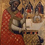 vitale degli equi detto da bologna san pietro benedice un pellegrino 1350 circa