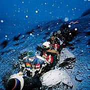 ande pellegrini ukuku fino croce su ghiacciaio cinquemila metri qoyllur ritti peru 2004