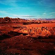 distesa tsaparang tramonto dalle rovine capitale regno guge tibet cina 1991