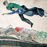 marc chagall over the town 1914 18