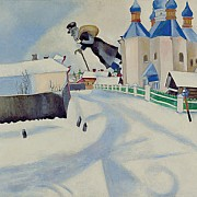marc chagall over vitebsk 1922
