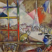 marc chagall paris through the window 1913