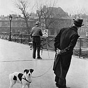 robert doisneau uomo con cane