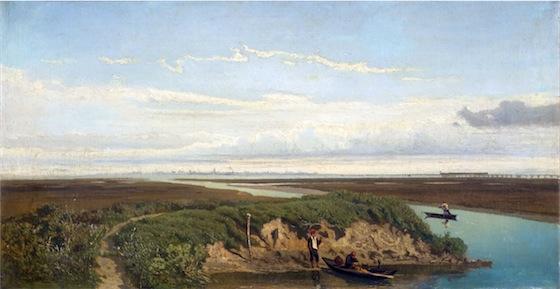 Barche di pescatori in laguna