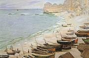 bateaux a etretat 1883