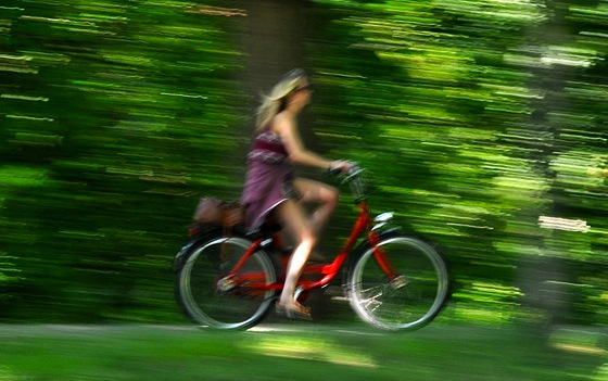 In bicicletta nel verde