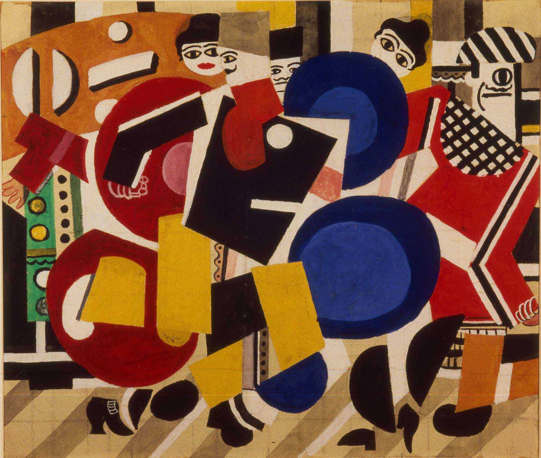 Fernand Léger - Curtain design for the ballet skating rink, 1922