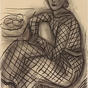 henri matisse giovane donna seduta con abito a rete 1939
