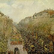 camille pissarro boulevard montmartre mardi gras 1897 1000px