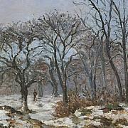 camille pissarro le bois de chataigniers en hiver louveciennes 1872 1000px