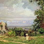 camille pissarro paysage pres de louveciennes 1870 1000px