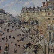 camille pissarro place du theatre francais 1898 1000px